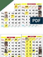 Kalendar 2015 Word
