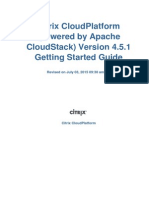 CloudPlatform Powered by Apache CloudStack Version 4.5.1 Getting Started Guide