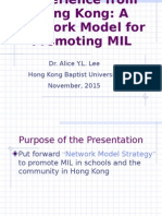Session 5_DrAliceLee_Experience from HK - Promoting MIL 2015.ppt