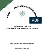 CSS 2016 competitve syllabus