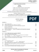 Computer Applications ICSE Sample Paper 4