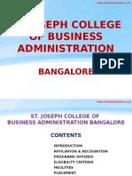 St. Joseph College of Business Administration Bangalore|SJCBA