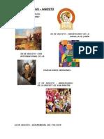 Fechas Cívicas -Agosto