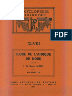 Flore de l'Afrique Du Nord (Maroc, Algérie, Tunisie, Tripolitaine, Cyrénaïque Et Sahara), Vol. 3, R. Maire (1955)