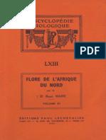 Flore de l'Afrique Du Nord (Maroc, Algérie, Tunisie, Tripolitaine, Cyrénaïque Et Sahara), Vol. 11, R. Maire (1964)