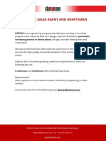 Job Offer Sales Agent and Draftsman