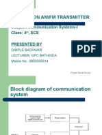 Class Notes - Am & Fm Transmitters