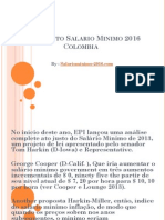 Incremento Salario Minimo 2016 Colombia
