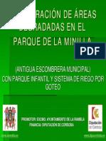 Recuperacion de Areas Degradadas en El Parque de La Minilla