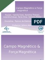 Campo magnético e força magnética