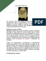 Mujeres en La Historia. Margarita Porete (1250-1310)