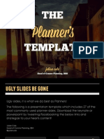The Strategic Planners Presentation Template