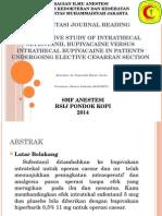 Presentasi Journal Reading Anestesi