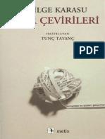 Bilge Karasu - Şiir Çevirileri