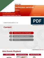 Huawei Anti-DDoS Solution Mainslide_ISP