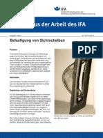 Befestigung Von Sichtscheiben - IfA 0106