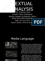 Textual Analysis - American Heist