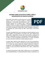 situacion en Bolivia sobre las Casas de Acogida