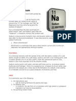 Chemical Element Sodium (Na)
