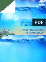 Pencemaran Dan Penjimatan Air