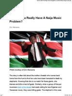 Does Kenya Really Have a Naija Music Problem