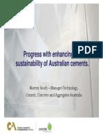 Sustainability of Australian CementsSOUTH