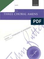 Rutter - Three Choral Amens