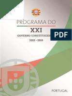 Programa do XXI Governo Constitucional