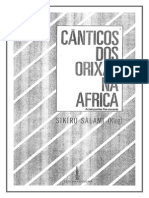 Cânticos Dos Orixás Na África - Sikiru Salami