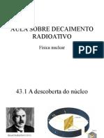 Aula Sobre Decaimento Radioativo