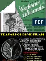 Cadernos de Umbanda 3 - Ed Pallas Ano 1988