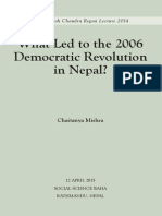 What Led to Democratic Revolution of Nepal- Chaitanya Mishra