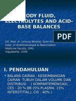 Body Fluid, Electrolytes and Acid-base Balances