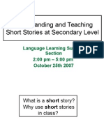 Understanding and Teaching Short Stories handout version.ppt