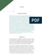 ARISTOTE - Physique Livre 1- Chap 3