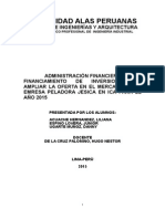 Administracion Financiera Peladora de Papas