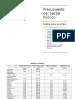 Análisis de Presupuesto Público - Politica Social en El Perú