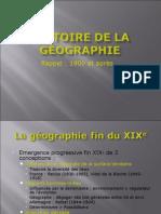 Histoire de La Géographie (M1)