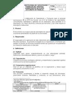 Plan Institucional de Capacitacion y Formacion Del Personal Administrativo de Planta