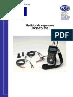 Manual Medidor Espesor Pce Tg250