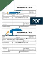 Modelo-Despesas de Caixa Para Empresa