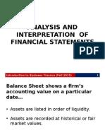 Analysis Interpretation of FinStatements (1)