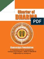 Charter of Dharma by SreeRamaDasa Manish