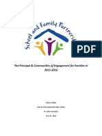 role of a principal the principal and communities of engagement for families in 2015-2016 final