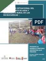 Final Diagnóstico Situacional Del Abastecimiento de Agua y Saneamiento Rural en Las Microcuencas