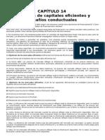 Capitulo 14 Mercados de Capitales Eficientes y Desafíos Conductuales