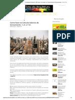 Tons Da Arquitetura _ Design Urbanismo Restauro _ São Paulo _ Como Fazer Os Cálculos Básicos de Zoneamento - C.a. e T