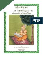 Mimamsa in english