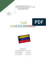 Trabajo Venezolanísmos