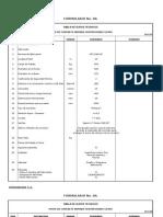 Tabla de Datos Tecnicos Rp